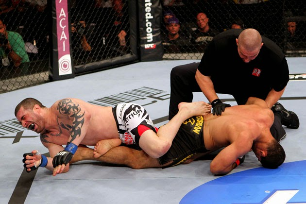 Hard to tap from a leg lock position