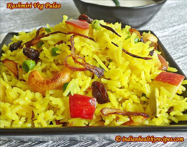 kashmiri pulao | veg recipe