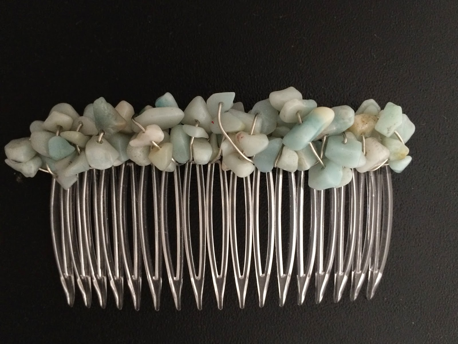 Amazonite Nugget Hair Comb CO2803
