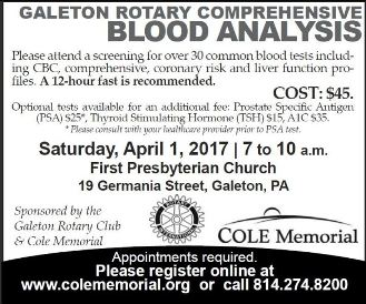 4-1 Blood Analysis, Galeton