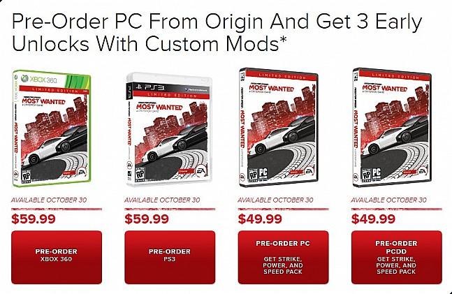 Need for speed most wanted edición limitada