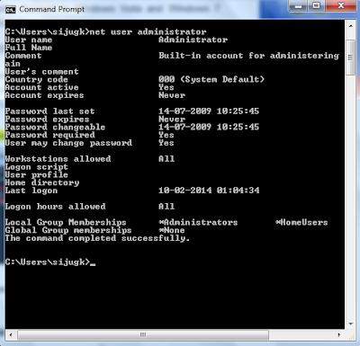 Net User command