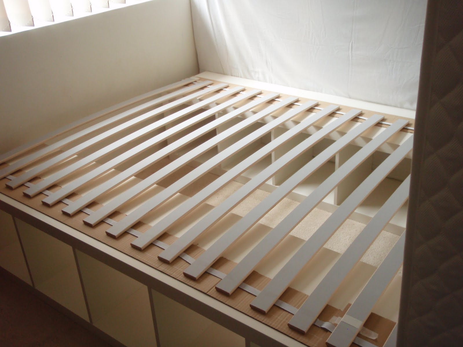 Expedit re purposed as bed frame for maximum storage Get Home