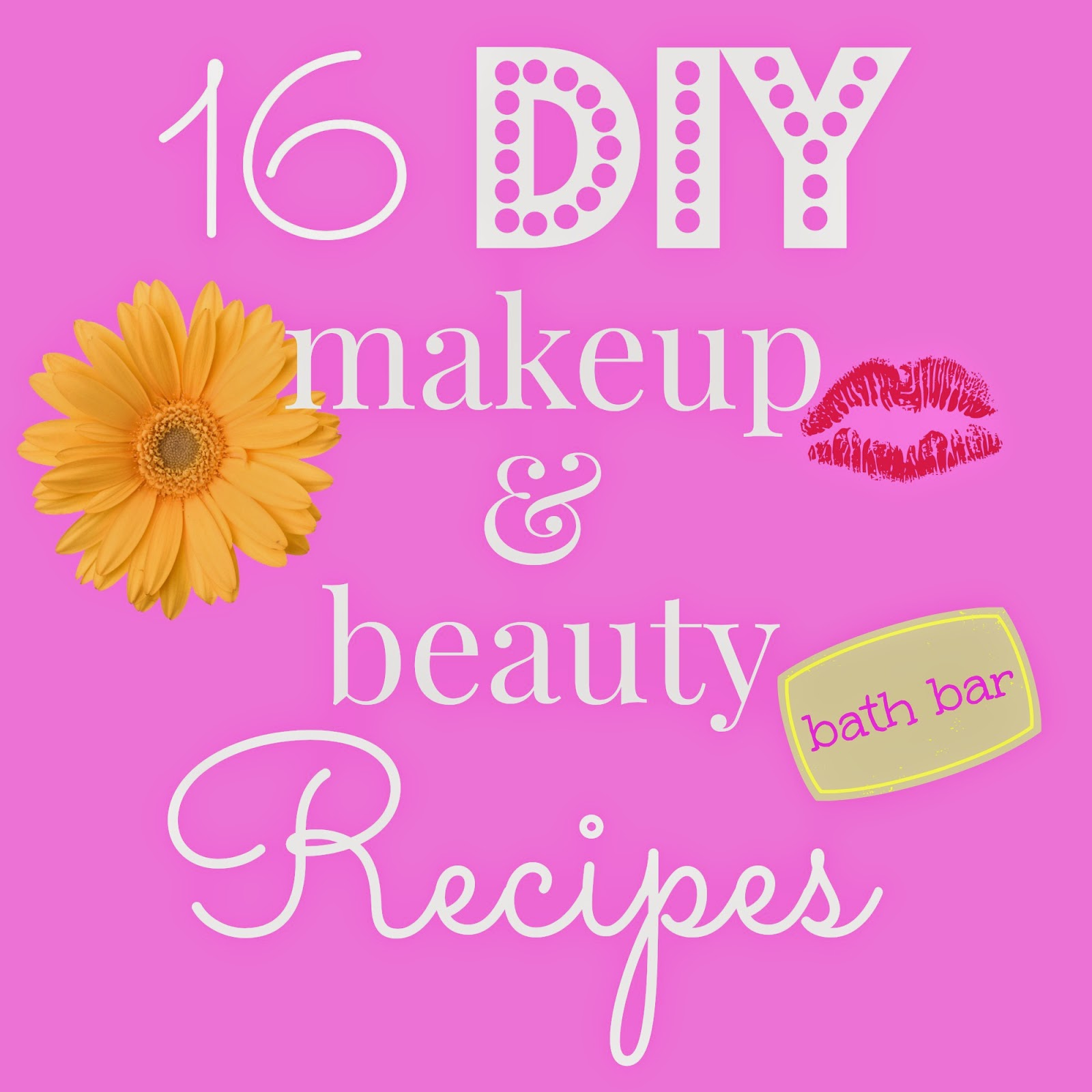 How to make DIY makeup, lip gloss, lotion, hairspray, mascara, perfume, dry shampoo