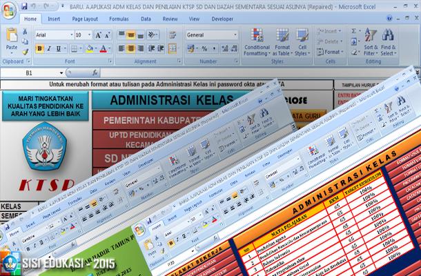 Aplikasi Administrasi Kelas dan Penilaian KTSP SD dengan Microsoft Excel