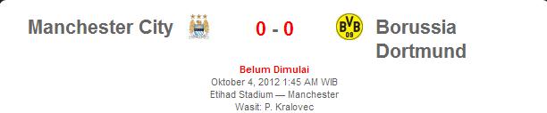 Manchester City vs Borrusia Dortmund