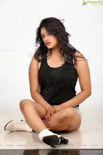 Priya Anduluri in Cute Very Beautiful Shorts and Tank Top Extremely Cute Pics