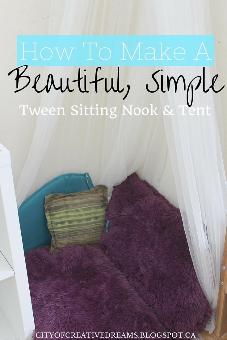 Tween Bedroom Sitting Nook & Tent