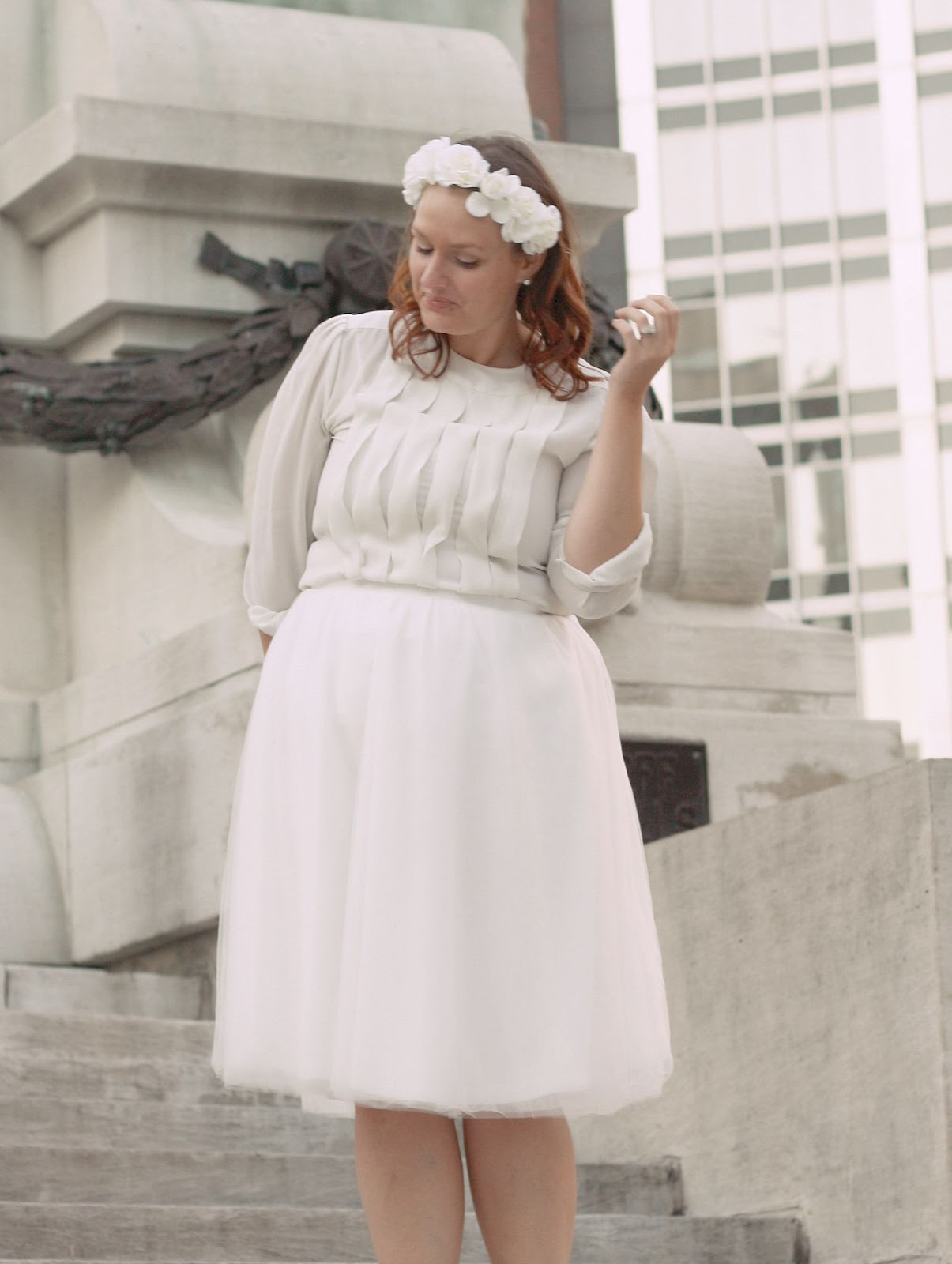 In kinseys closet flower girl i snagged it for cheap at charlotte russe the top is an old vintage find ive had for years topped off with a white flower crown headband i was good izmirmasajfo Images