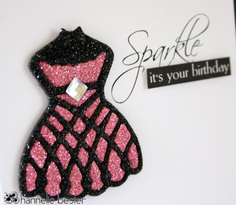 Sparkly birthday card