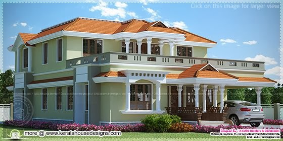 2933 sq-ft house elevation