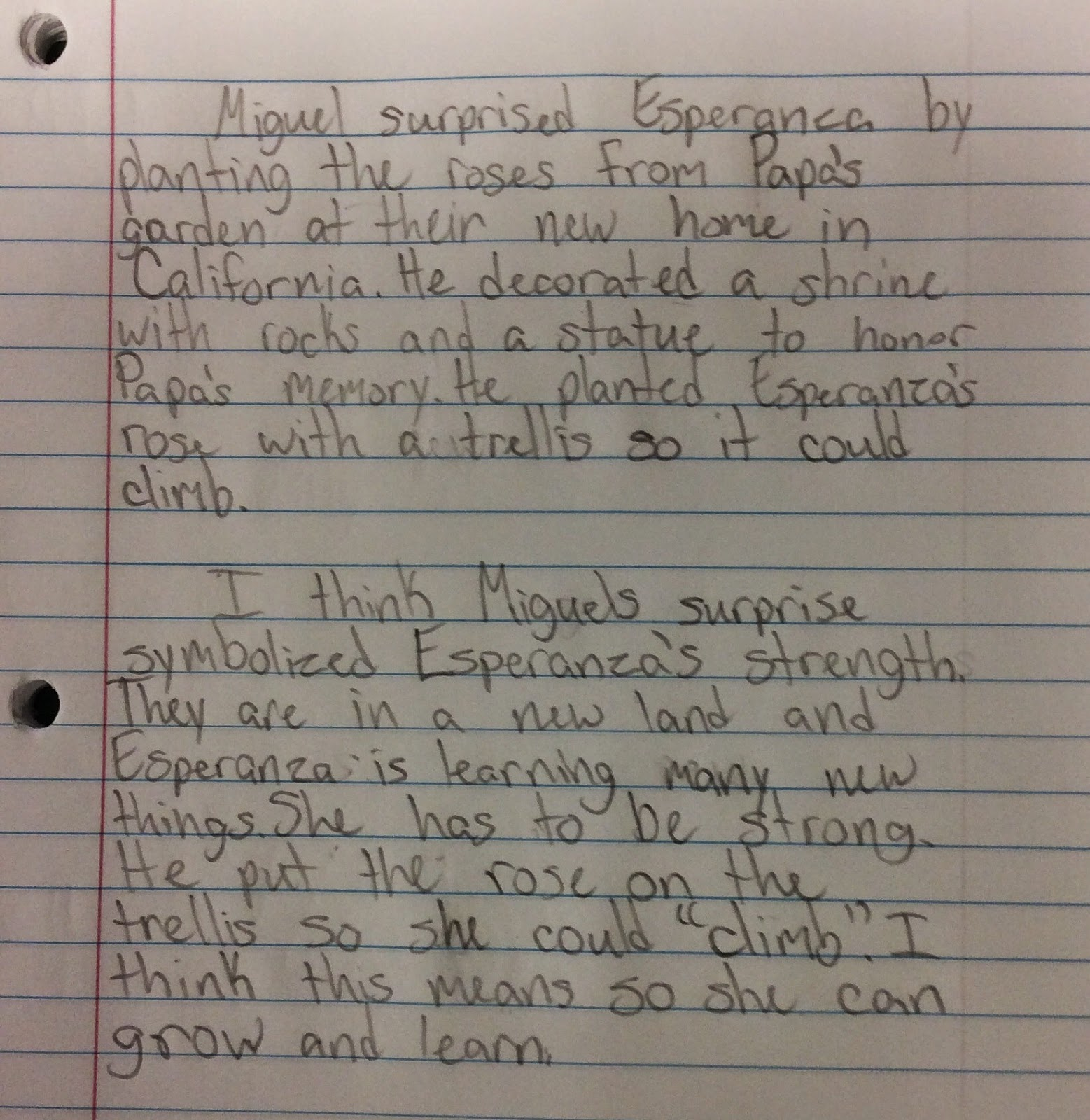 Esperanza Rising Common Core