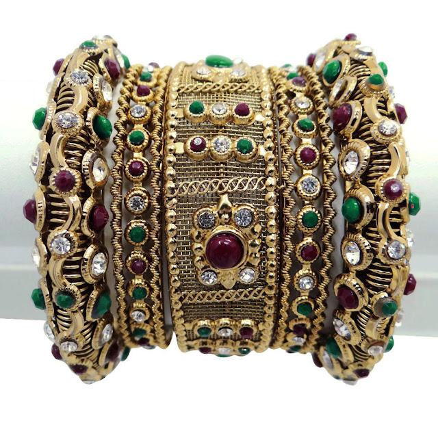 Mehndi Designs Kangan : Mehndi henna magazine gold bridal kangan collection