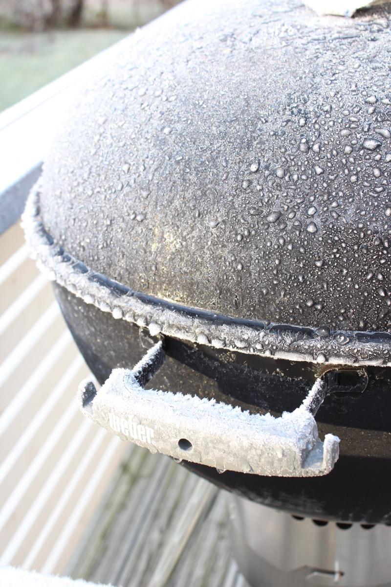 black Weber grill