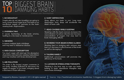 AVOID THE TOP 10 BIGGEST BRAIN DAMAGING HABITS
