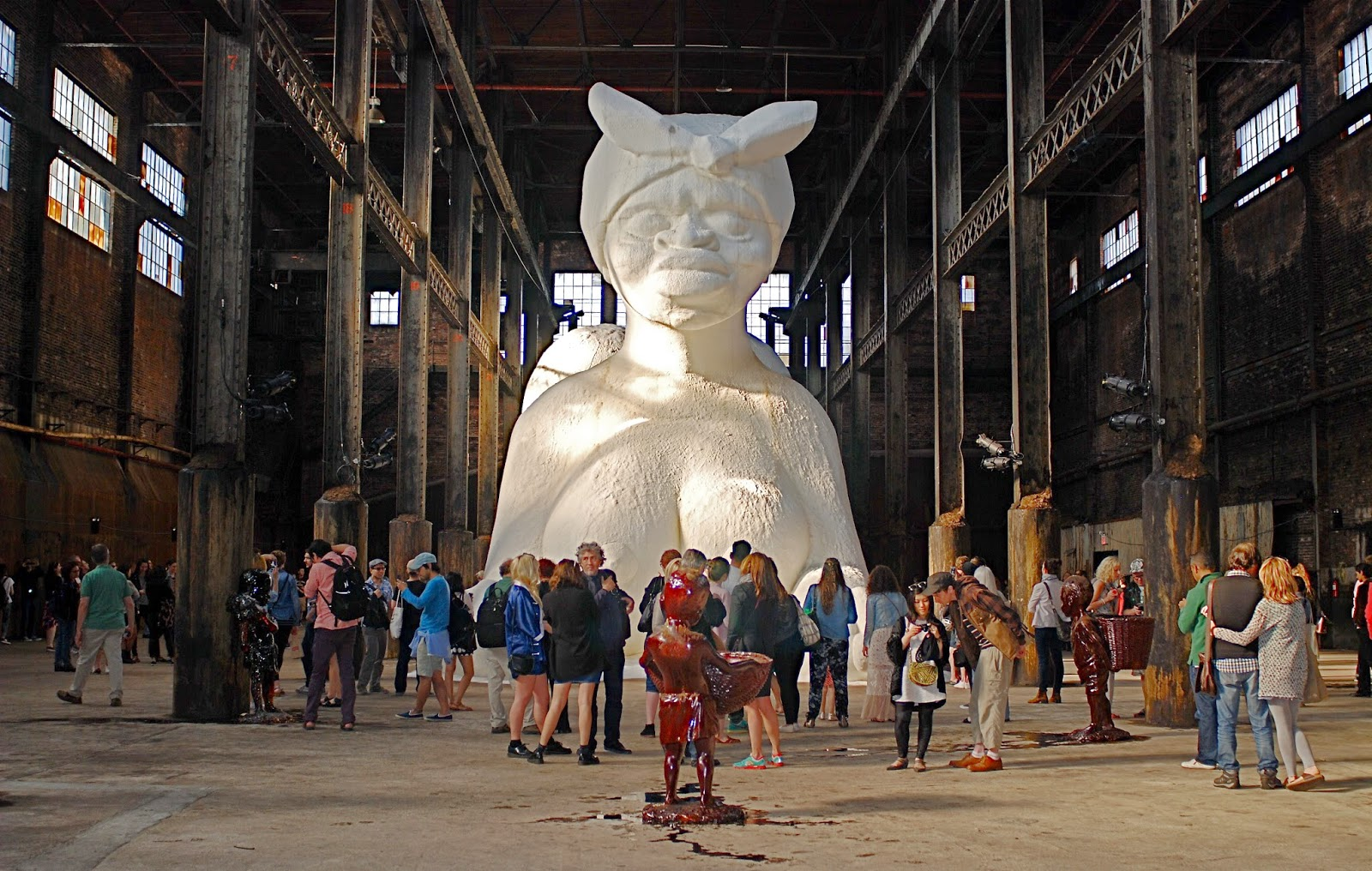 NYC NYC Kara Walkers Sugary Sculptures At The Defunct Domino - 17 creative sculptures around world