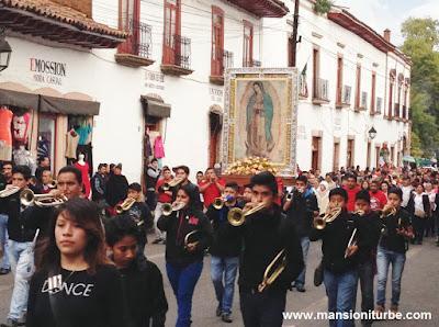 Peregrinación a la Virgen de Guadalupe en Pátzcuaro, Michoacán