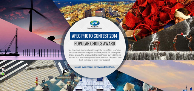 The Top 10 Finalist on Asia-Pacific Economic Cooperation (APEC) Photo Contest 2014