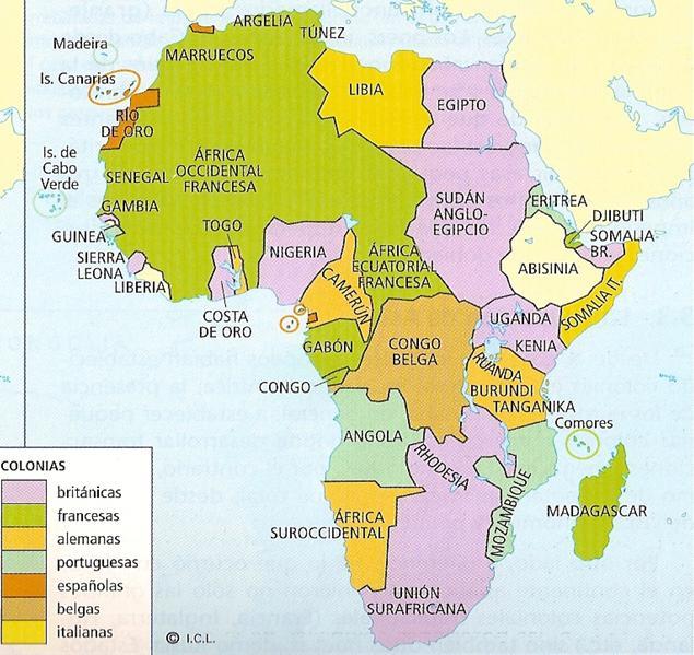 El mundo contemporneo Historia y problemas Mapas de frica en