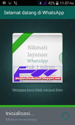 membuat akun  whatsapp di HP
