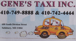 GENE'S TAXI 410-749-8888