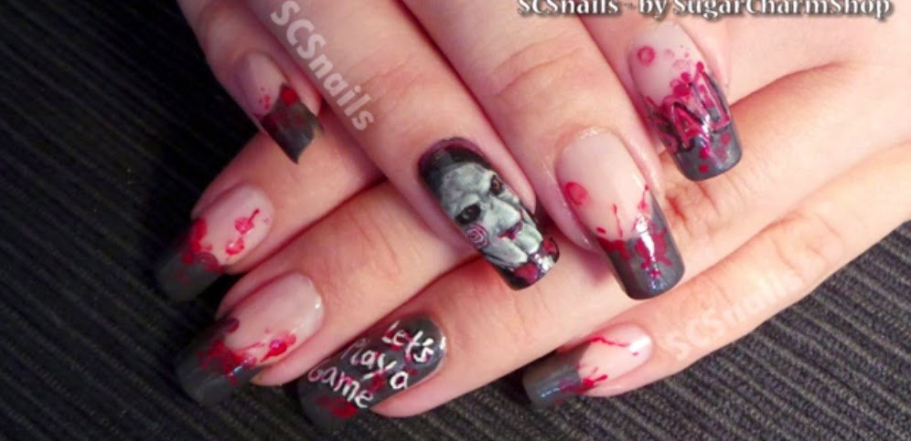 Nails art video tutorial halloween nail art tutorial saw tags nail designsnailsmanicurenail art designsacrylic nailsgel nails nail tutorialnail designnail art ideaspretty nailsart nailsnail tutorials prinsesfo Gallery