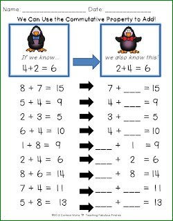 math worksheet : ♥teaching fabulous firsties and 2nd grade smarties!♥ january 2013 : Commutative Property Of Addition Worksheets 2nd Grade