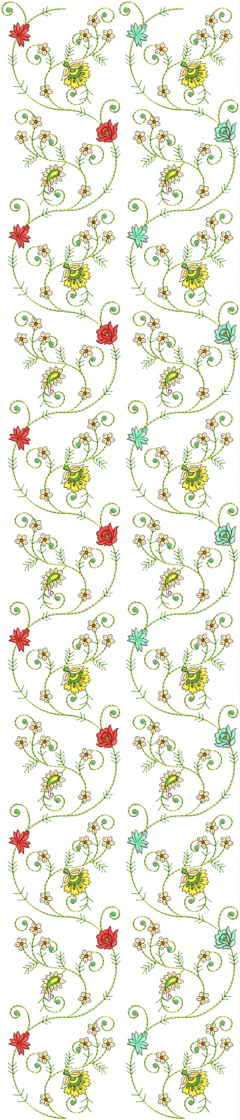 Embdesigntube georgatte all over embroidery designs by tarang