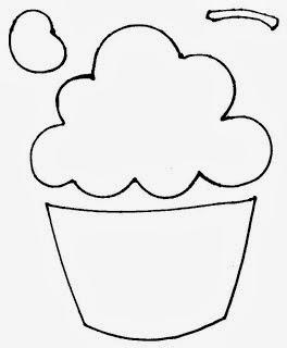 molde cupcake para convite