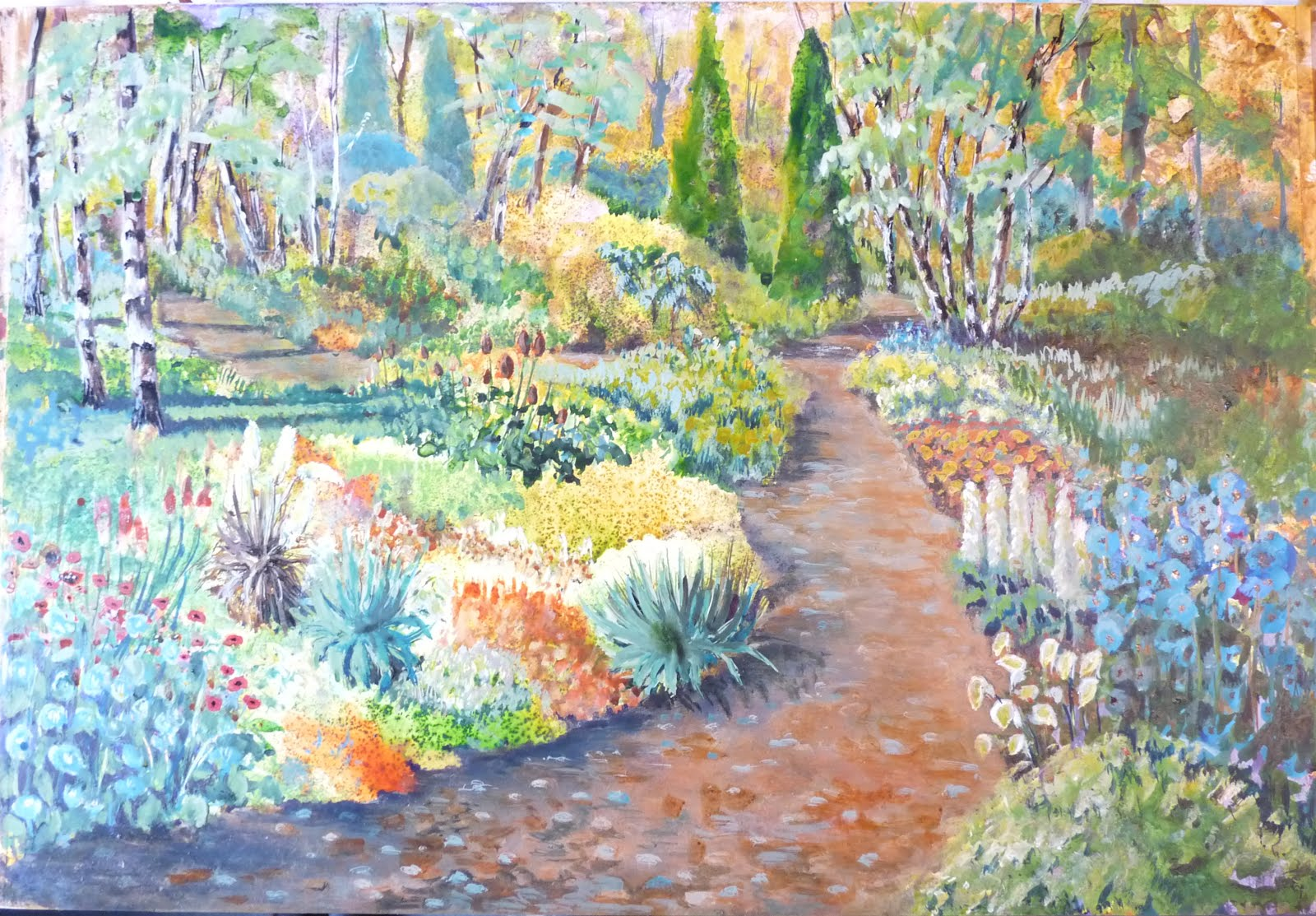 English country garden paintings - English Country Garden Paintings English Country Garden