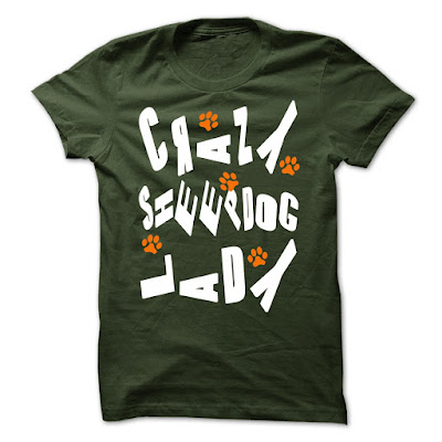 Crazy Sheepdog Lady T Shirts