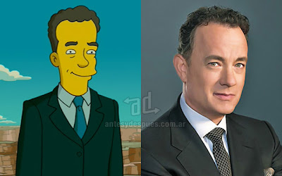 Tom Hanks simpsons artis+kartun Tokoh tokoh selebriti dalam serial kartun The Simpson