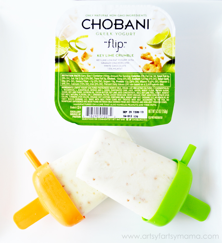 Chobani Greek Yogurt Popsicles at artsyfartsymama.com #HelloSummer #chobaniCG