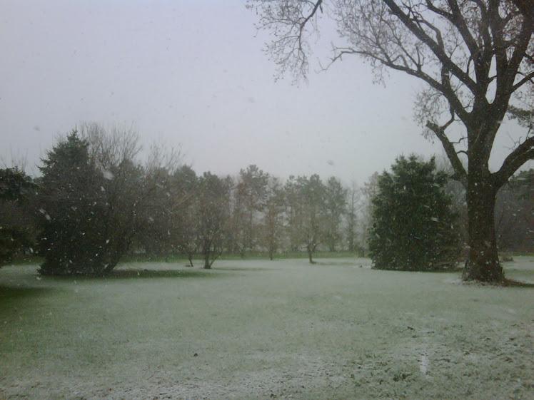 April snow!!