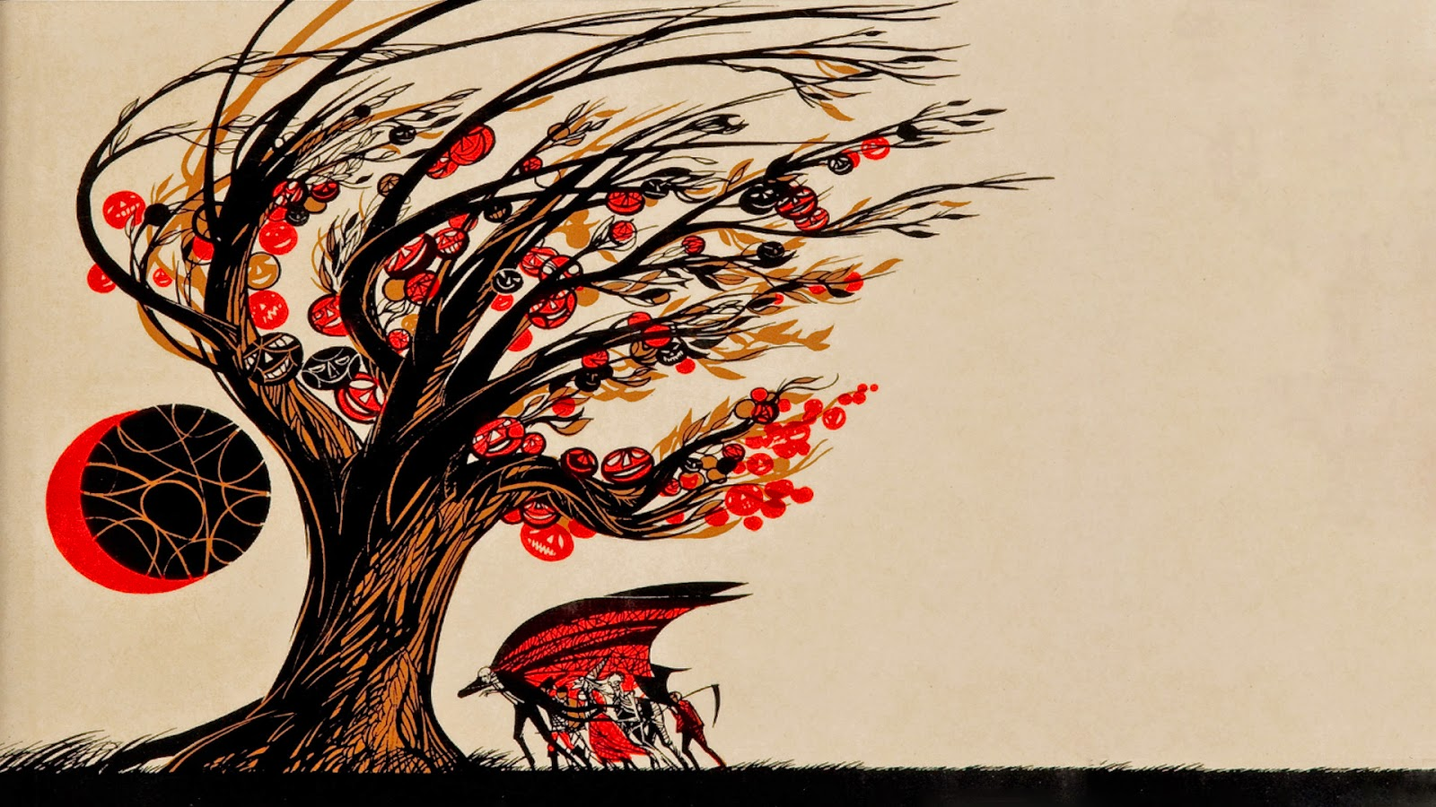 neato coolville: halloween wallpaper: ray bradbury's the halloween tree
