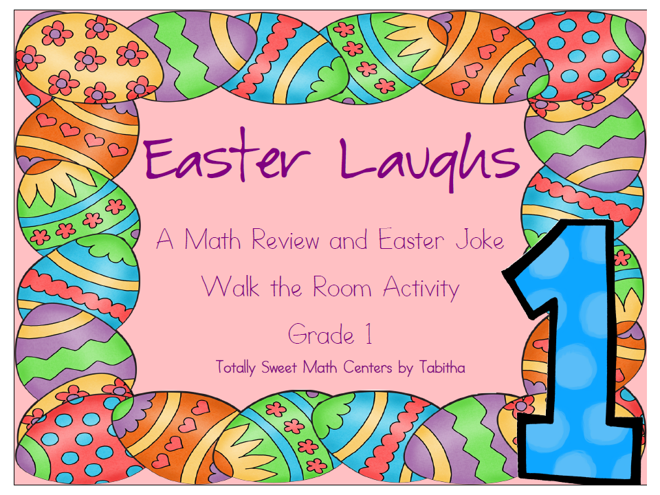 http://www.teacherspayteachers.com/Product/Easter-Laughs-A-Math-Review-and-Easter-Joke-Walk-the-Room-Gr1-1143337