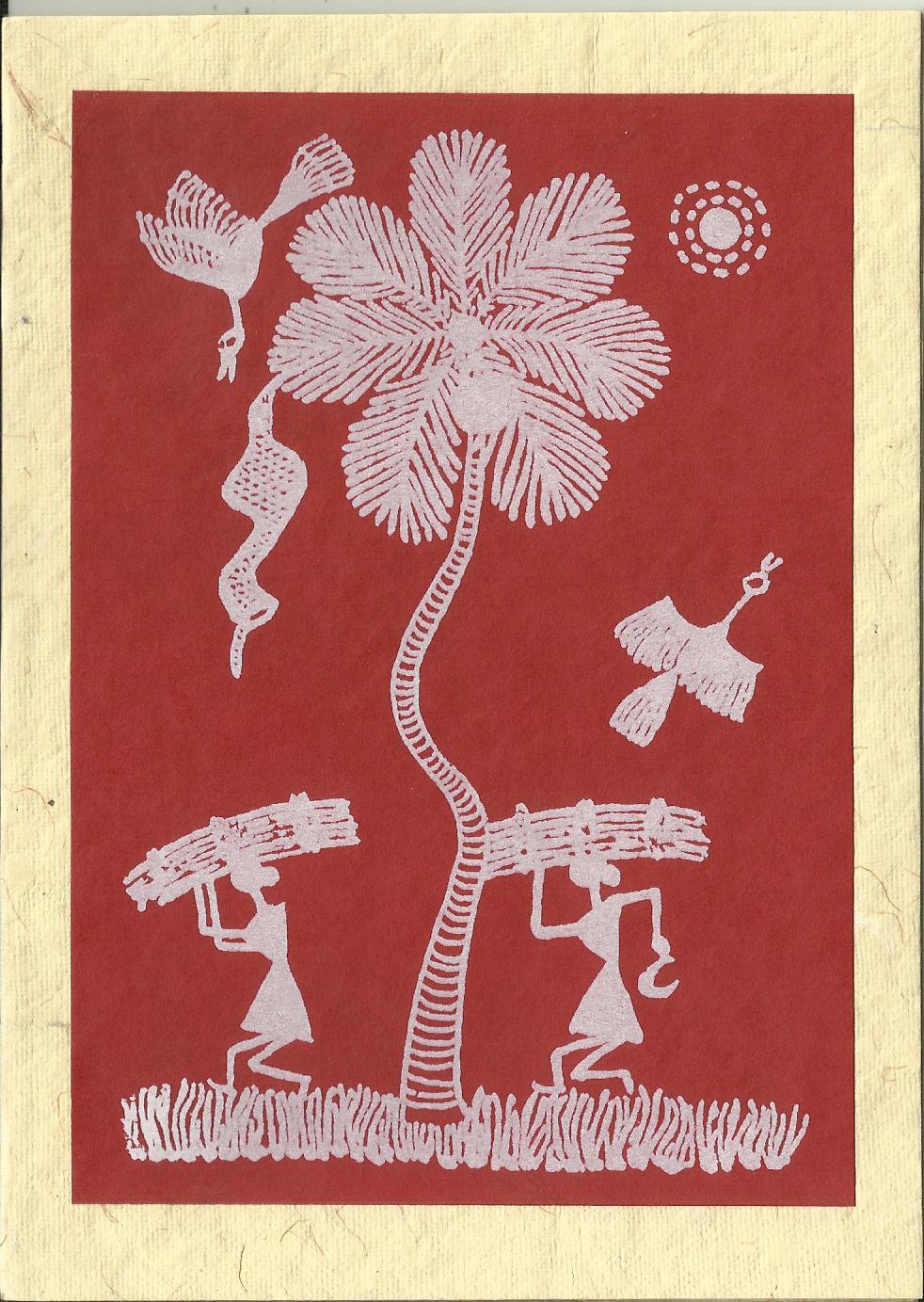 Heritage of India: Warli Paintings Greetings Cards