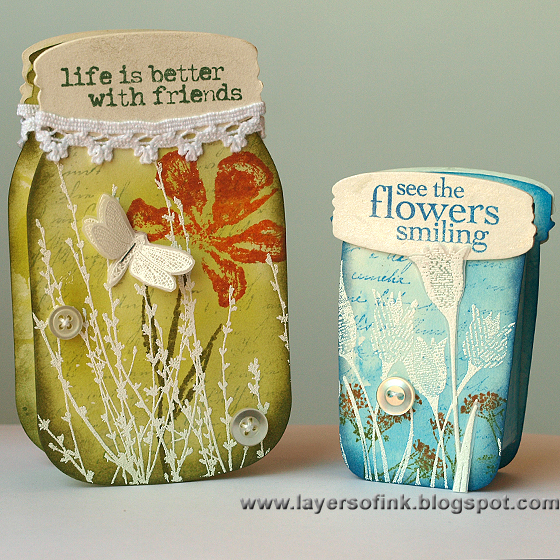 Summer Mason Jars - Layers of ink