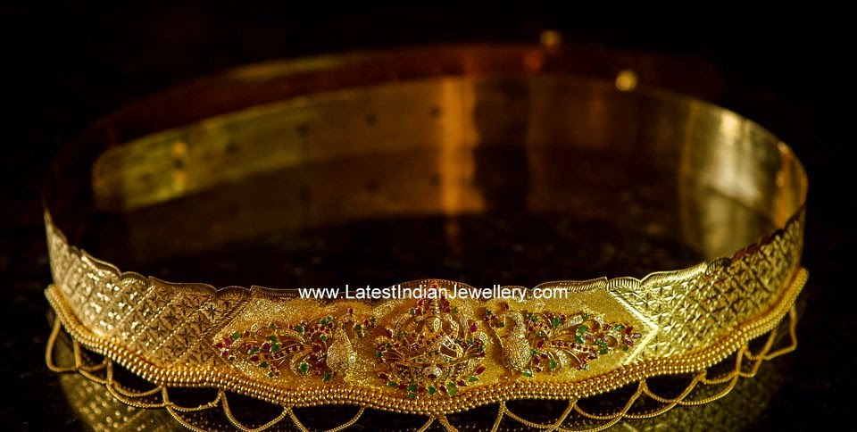 Simple Indian Gold Waist Belt