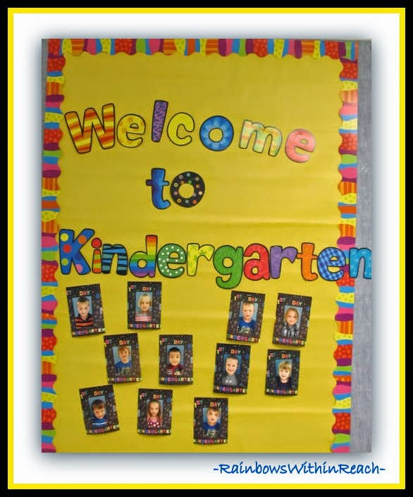 Back to School Kindergarten Bulletin Board at RainbowsWithinReach