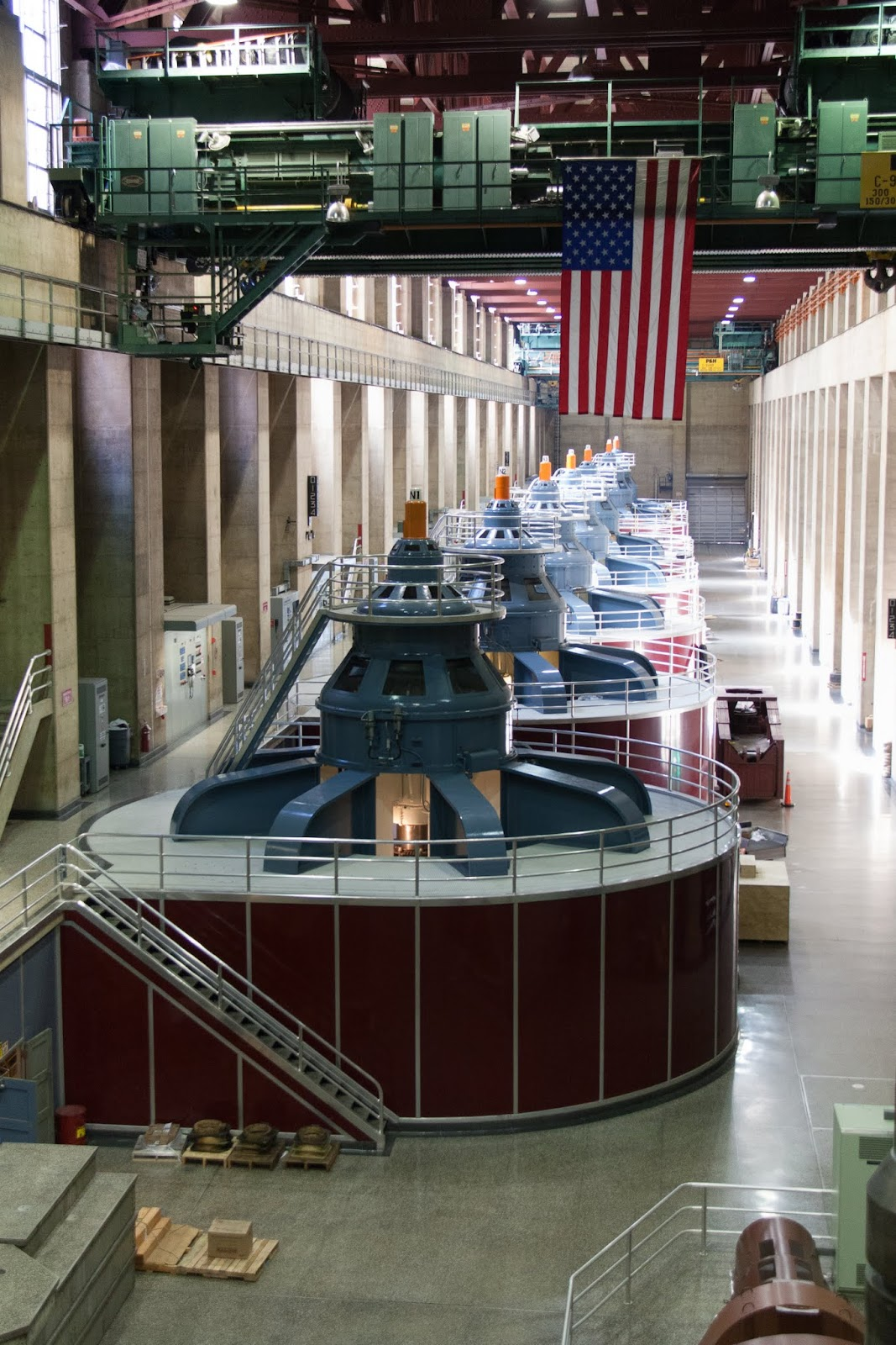 Inside the power station