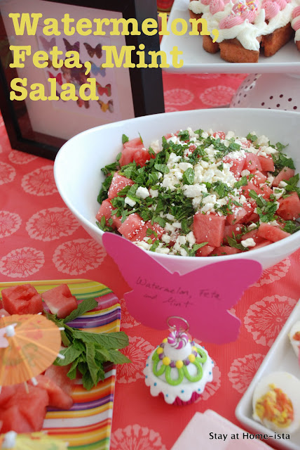watermelon feta and mint salad