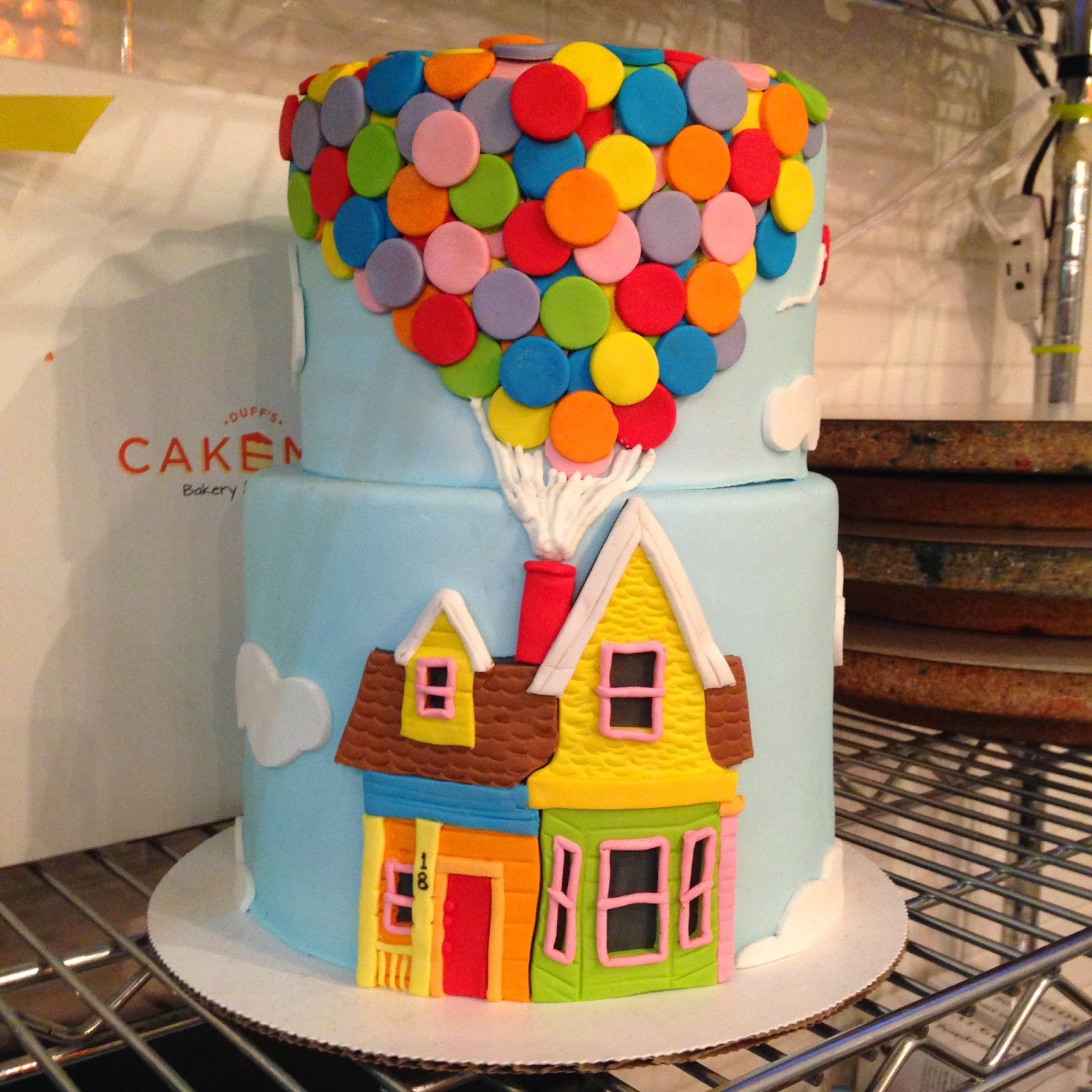 Up balloons house cake - Duff Cake Mix Children's Hospital LA Stephen Glickman Birthday - Hello, Handbag
