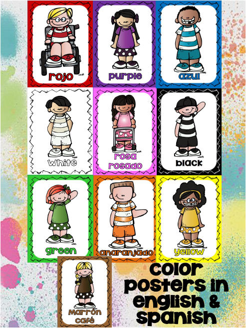 http://www.teacherspayteachers.com/Product/Freebie-Posters-Colors-Colores-in-Engl-and-Span-1384342