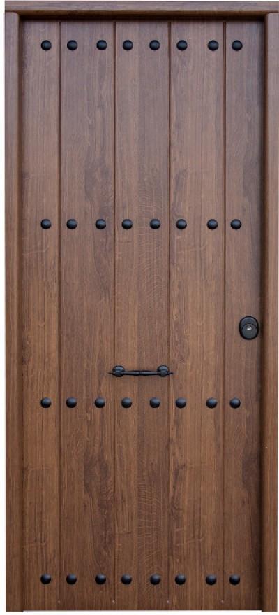 Puertas acorazadas de acero for Puertas de madera exterior precios