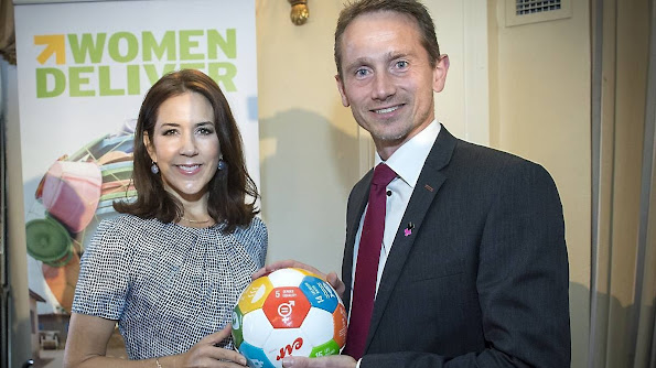 "HRH Crown Princess Mary of Denmark attends meeting the ""Women Deliver"" in New York."