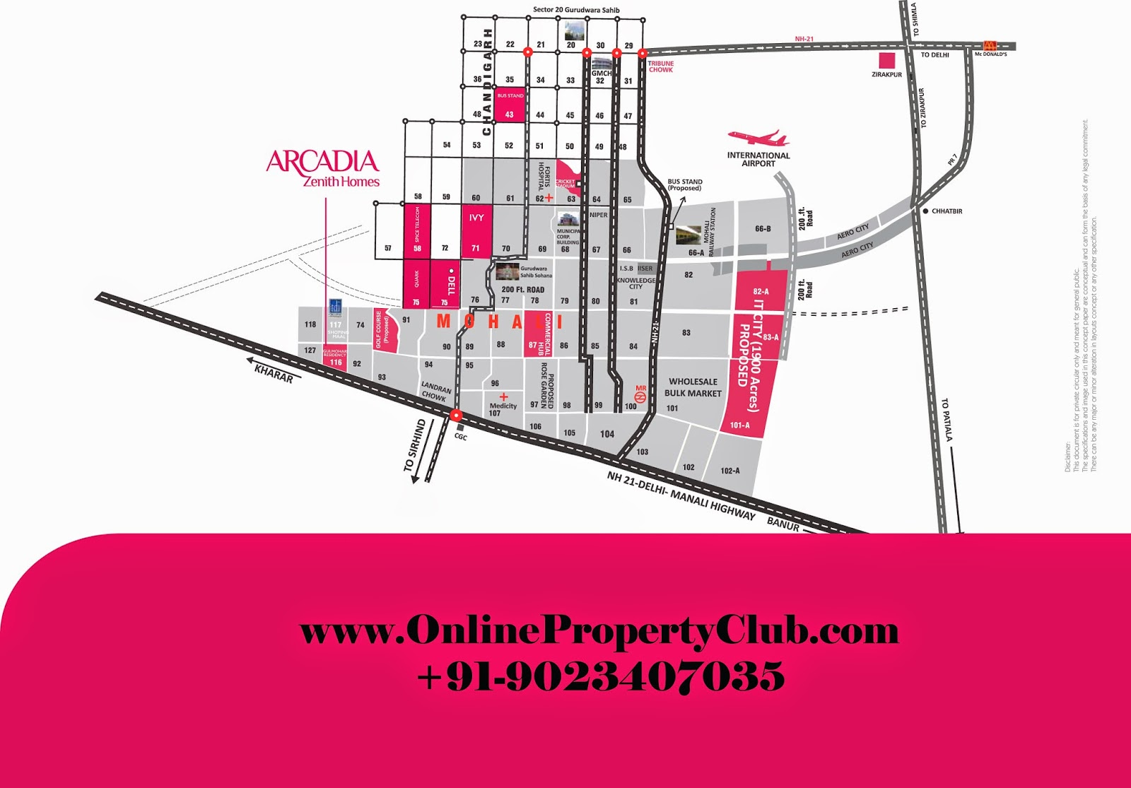 ARCADIA Zenith Homes Flats in Sector 116 - Mohali