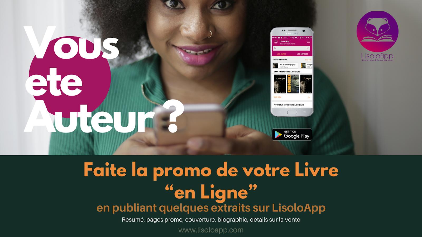 LisoloApp : promotion assurée des vos livres !