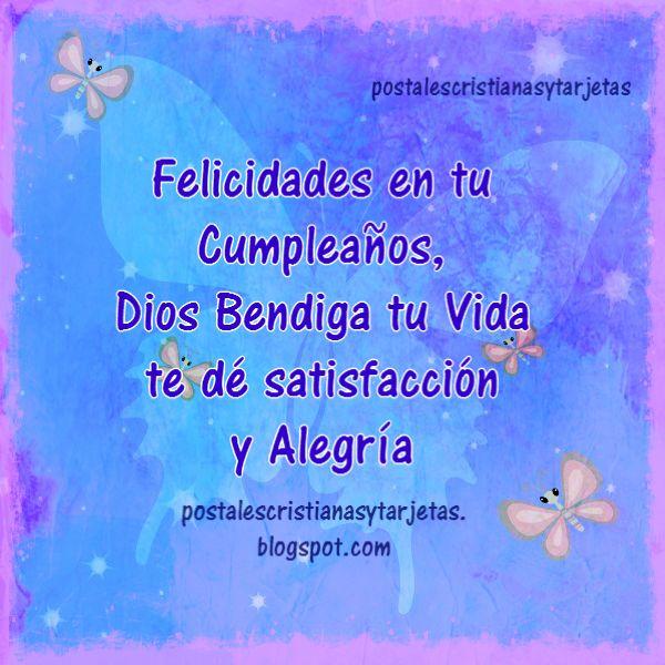 Feliz cumpleaños, mensaje cristiano, bendiciones por cumple con tarjeta cristiana para amiga, mujer, niña, hermana, hija, sobrina. Felicidades con bonitas frases de cumpleaños por Mery Bracho