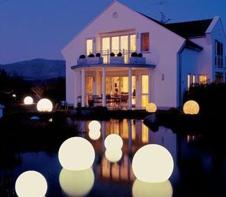 moonlight orbs outdoor lighting